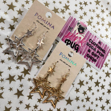 Shooting Star Layered Earrings- 2 COLORS