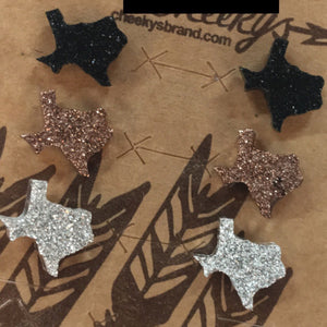 Dainty Druzy Texas Stud Earrings