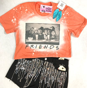 Halloween Friends Bleached Tee