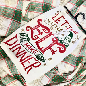 Little Elf Make Dinner Dish Towel-SALE