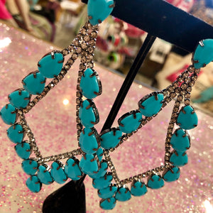 Glam Turquoise Earrings