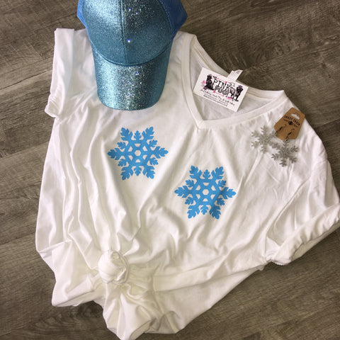 Snowflake V-Neck Tee (FINAL SALE)