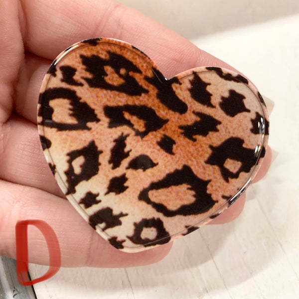 Leopard Heart Phone Grip-8 DIFFERENT STYLES