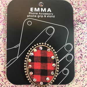 Buffalo Plaid Pendant Phone Holder- 2 COLORS