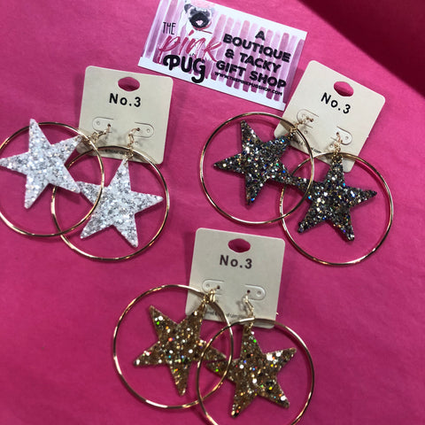 The Superstar Earrings- 3 COLORS!