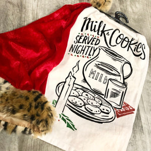 Milk And Cookies Dish Towel