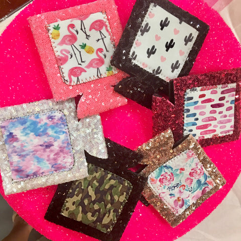 Sequin Can Cooler Koozies-6 STYLES