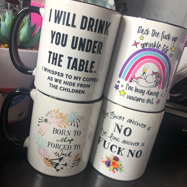 Tacky 11oz & 15oz Coffee Mug- 8 STYLES
