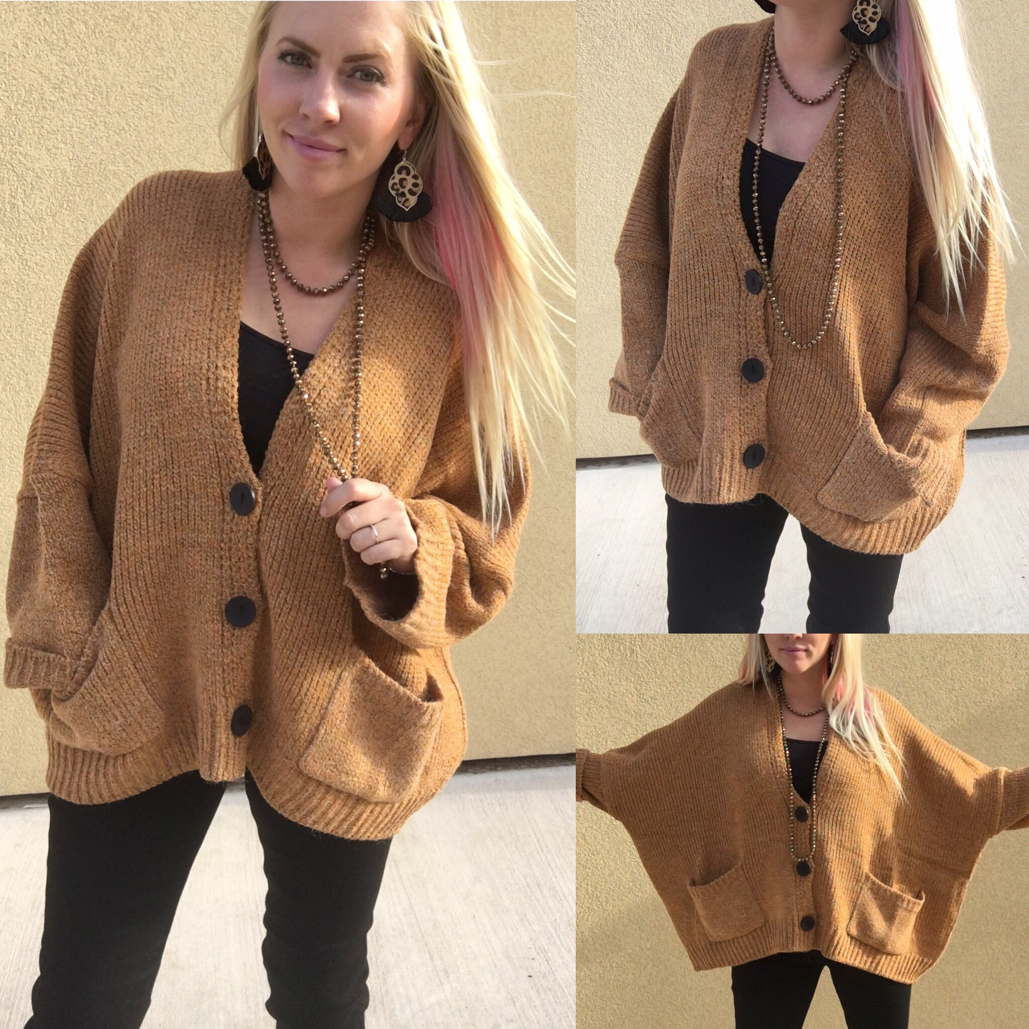 The Richie Mustard Oversized Cardigan-SALE