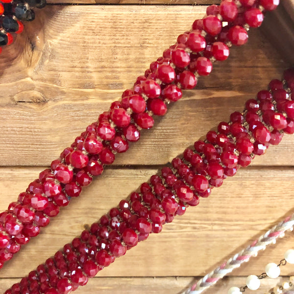 Long Layer Beaded Necklace