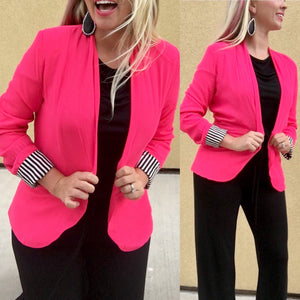 What, Like It's Hard? Hot Pink Blazer