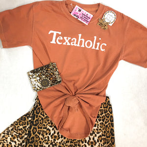 Burnt Orange Texaholic Comfort Colors Tee