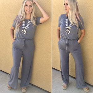 Dusty Blue Shake It Off Jumpsuit