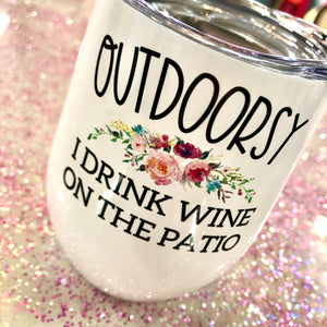 Outdoorsy Travel Wine Cup