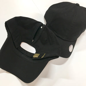Black Baseball High Pony Cap