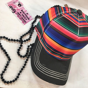 Distressed Serape Baseball Cap