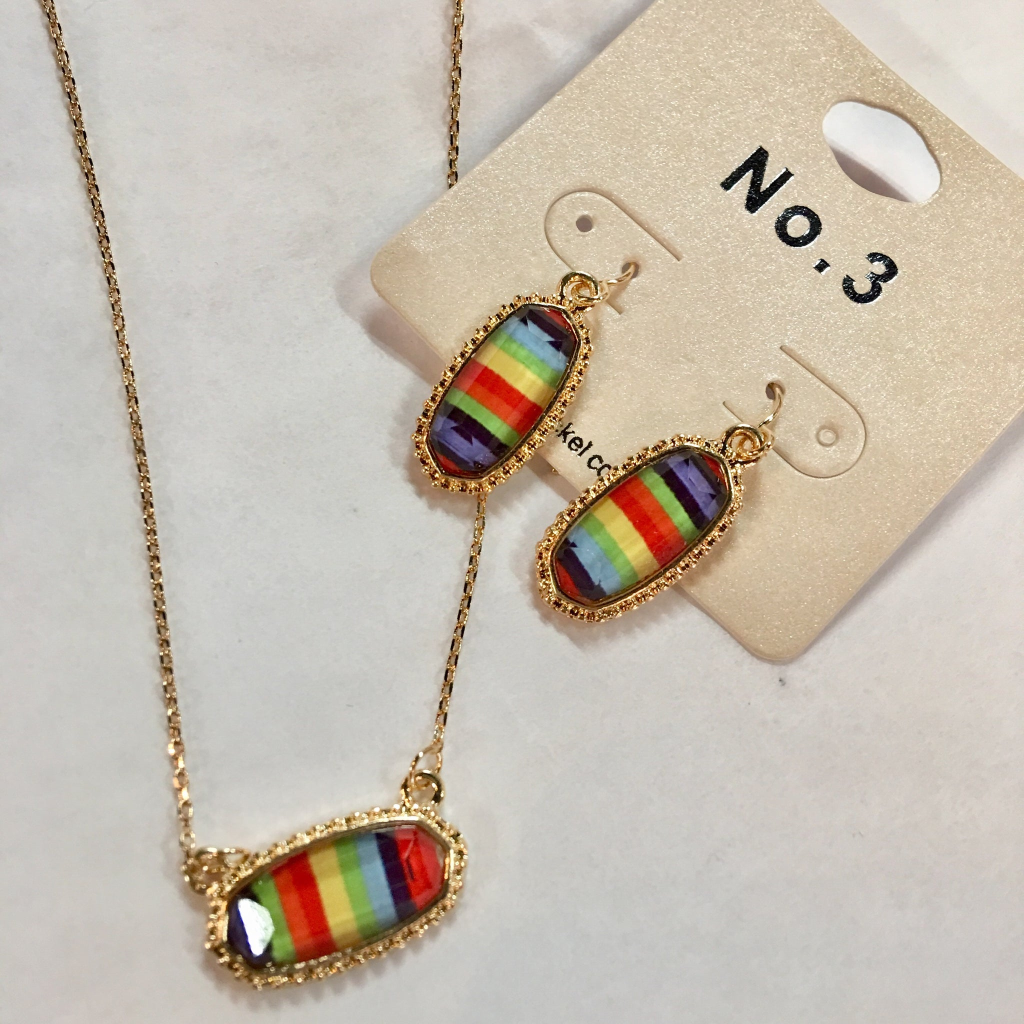 Mini Rainbow Pendant Earrings