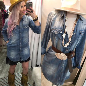 The Dallas Denim Tunic