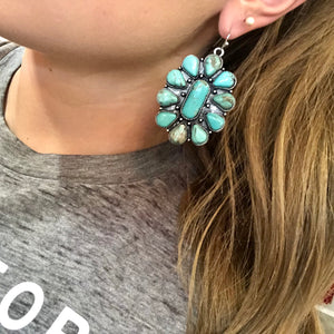 The Blanche Turquoise Stone Earrings