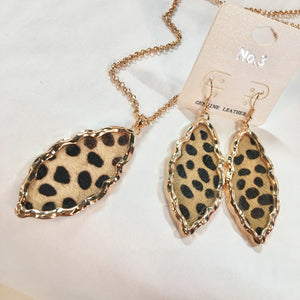 Leopard Marquee Long Layer Necklace