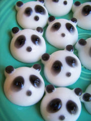 Lime Panda Bear Soap Set
