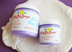 Black Raspberry Vanilla Cream Fluff Soap