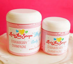 Strawberry Champagne Whipped Body Butter