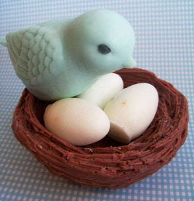 Blue Bird Nest Soap Set