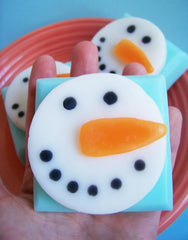 Peppermint Snowman Soap Bar