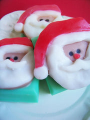 Candy Cane Santa Soap Bar