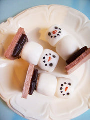 Chocolate S'more Snowman Soap