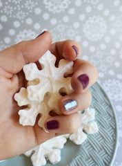 Peppermint Sparkle Mini Snowflake Soap Set