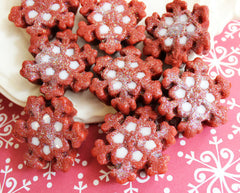 Red Velvet Cake Sparkle Snowflake Soap Set