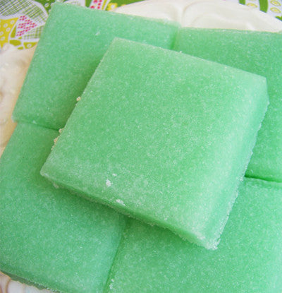 Mint Solid Sugar Scrub Soap Bar