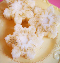 Strawberry Champagne Snowflake Soap