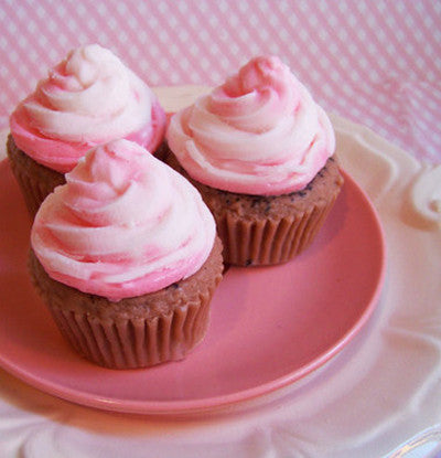 Strawberry Swirl Cupcake Soap