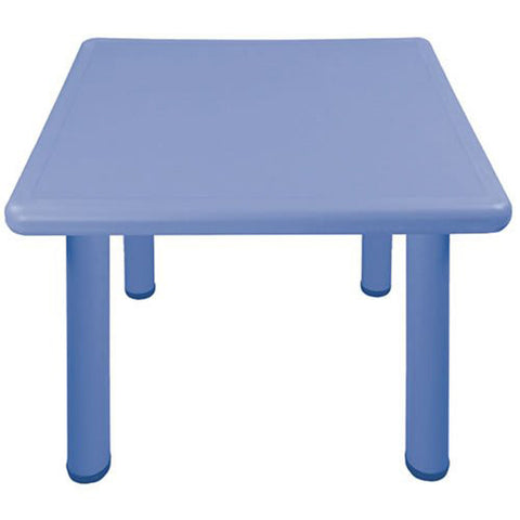 "Square Resin Table 22"" High - Blue"