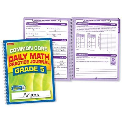 Daily Math Practice Journal - Gr. 5 - Each
