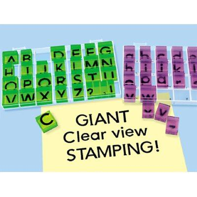 Giant Clear-View Uppercase Alphabet Stamps