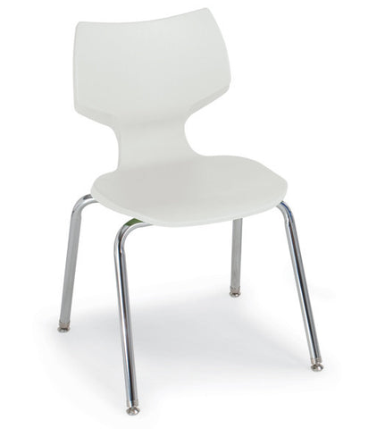 "16"" Flavours Stacking Chair-White"