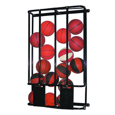 Double Basketball Wall Rack