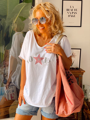 CAMISETA LOVE ⭐️ BLANCO