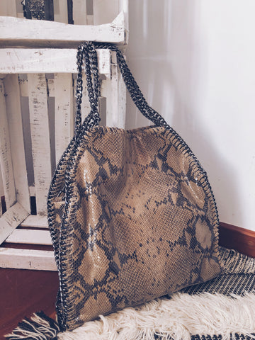 BOLSO ANIMAL PRINT BEIGE