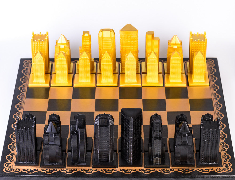 Pittsburgh Chess Set Pieces only Steel City Chess
