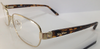 Max Mara MM 1030 Gold Tortoise KXU Metal Eyeglasses Frame 53-17-130 New 1030