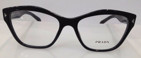 Prada VPR 27S Black 1AB-1O1 Plastic Eyeglasses Frame 53-17-140 Authentic Italy