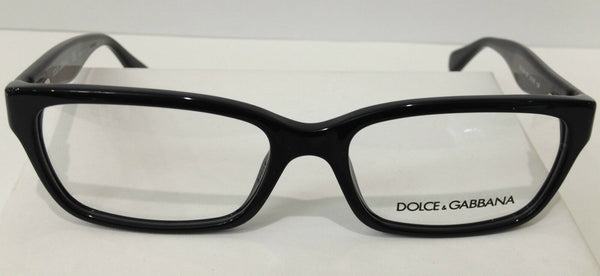 Dolce & Gabbana DD 1249 Black 501 Plastic Eyeglasses Frame 51-16-135 Authentic