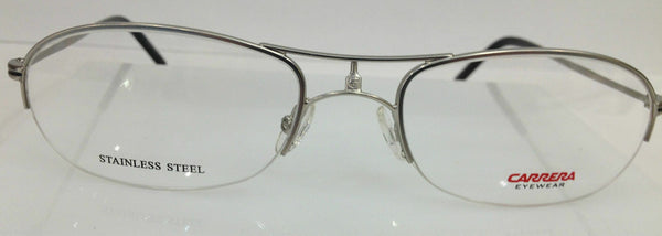 CARRERA CA 7551 011 MATTE SILVER METAL EYEGLASSES FRAME 54-19-145 NEW AUTHENTIC