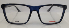 Carrera CA 6637 Grey Blue 6R6 Plastic Eyeglasses Frame 52-17-145 Authentic New