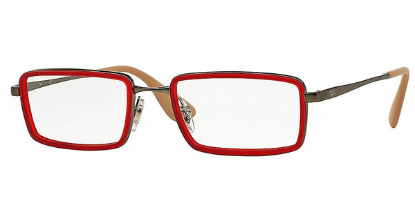RAYBAN RB 6337 RUBBER RED 2856 PLASTIC EYEGLASSES FRAME AUTHENTIC 51-18-140 RX